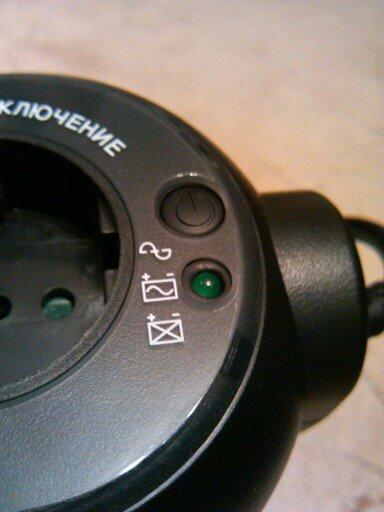Кнопка и индикатор на WOW-300