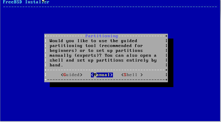 FreeBSD Partitioning
